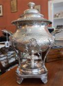A Victorian Silver Plated Samovar