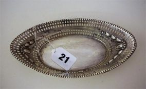An Edwardian Siver Boat Shaped Sweets Basket