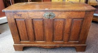 An Antique Style Continental Oak Coffer
