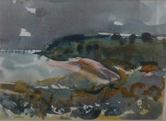 "Archie Sutter Watt RSW (British 1915 - 2015) ""Scottish Moorland Scene"" Watercolour signed and dated"