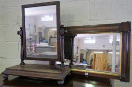 A 19th Century Mahogany Dressing Mirror