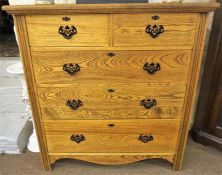 An Edwardian Ash Chest Of Drawers
