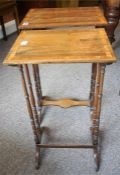 A Pair Of Regency Rosewood Inlaid Nest Of Tables