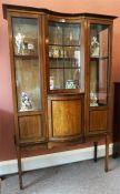 An Edwardian Mahogany Inlaid Display Cabinet