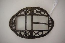 An Antique Silver Buckle