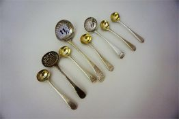 A Mixed Lot Of George III And 18th Century Silver Flatware