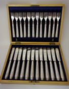 A Set Of Twelve Victorian Silver Plated Fish Knives And Forks