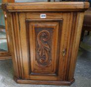 A Small Mahogany Hanging Corner Cabinet