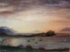 "William McAnally (Scottish) ""Seal Island"" Watercolour, signed lower left, 40 x 54cm, framed"