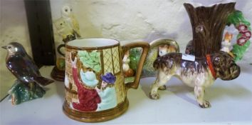 A Small Mixed Lot Of Ceramics & Collectables, to include a Borders Fine Arts figure group of a