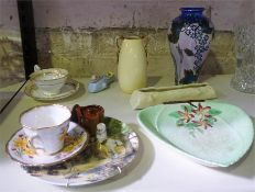 A Small Mixed Lot Of China, to include a Carlton Ware vase, a Victorian cup and saucer, etc, (12)