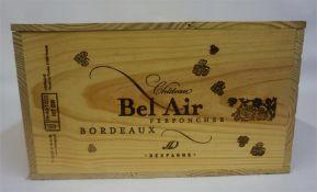 A Case Of Twelve Bottles Of Chateau Bel Air 2005, Grand Vin Bordeaux, 750ml, case sealed