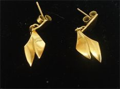 A Pair Of 9ct Gold Earrings, stamped 375, 2.8 grams