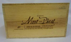 A Case Of Twelve Bottles Of Mont-Perat 2003, Grand Vin De Bordeaux, 750ml, case sealed