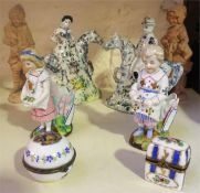 A Mixed Lot Of Victorian & Later Porcelain & Collectables, Comprising of two French porcelain