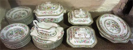 An Indian Tree Pattern Dinner Set By Bridgwood England, to include tureens, dinner plates, soup