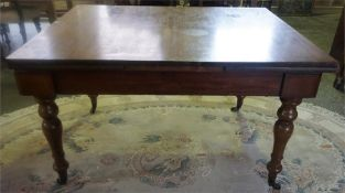 A Converted Mahogany Pull Out Dining Table, 75cm high, 130cm long, 107cm wide