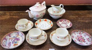 A Mixed Lot Of 18th & 19th Century Porcelain Teawares