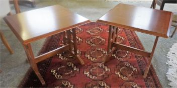 A Pair Of G-Plan Square Form Lamp Tables, 49cm high, 59cm wide, (2)