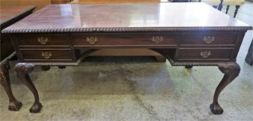 A Reproduction Hardwood Partners Knee-hole Desk