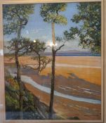"W. Douglas MacLeod "" Cumberland From Galloway"" Pastel, 48 x 40.5cm, signed lower right, label to"