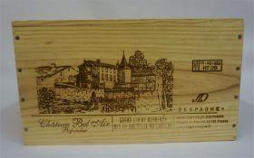 A Case Of Six Bottles Of Chateau Bel Air 2003, Grand Vin De Bordeaux, 750ml, case sealed