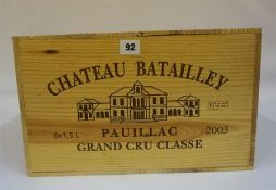 A Case Of Six Magnums Of Chateau Batailley 2003, Pauillac Grand Cru Classe, case sealed