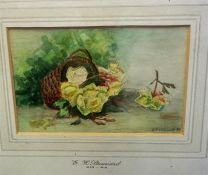"Eloise Harriet Stannard (1829-1915) ""Still Life Subjects"" A Pair Of Watercolours, signed and dated"