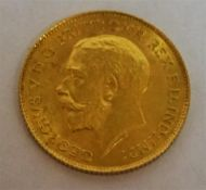 A Gold Half Sovereign, dated 1914, 4 grams
