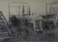 "Jane Jordan ""Tractor Subject"" Limited Edition Print, signed and dated 2006 to lower right, 18.5 x"