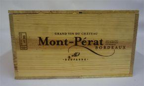A Case Of Twelve Bottles Of Mont-Perat 2005, Grand Vin Du Bordeaux, 750ml, case sealed