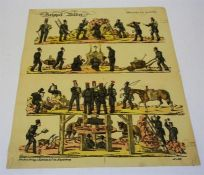 "Robrahn & Co Magdeburg (German), ""Rippel Bilder"" Eleven Colour Lithographic Engravings, unframed, 41"