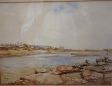 "Paterson ""West Haven Carnoustie"" Watercolour, signed lower left, 25 x 34.5cm, framed"