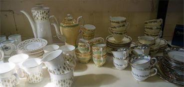 A Quantity Of China Tea & Coffee Wares, Comprising of a Greenway 21 piece coffee set, a Roslyn 15