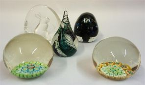A Collection Of Glass Paperweights, to include Swedish and Milliefiori examples, (23) Condition