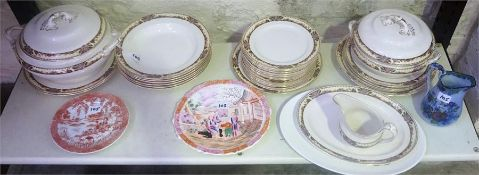 A Quantity Of Pottery Dinner Wares, to include a Losol ware 29 piece dinner set, Chinese export