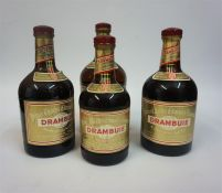 Four Bottles Of Drambuie Liqueur, Comprising of a litre bottle, two 70cl bottles and a 50cl