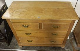 A Late Victorian Pine Chest Of Drawers, with two small drawers above two long drawers, 79cm high,