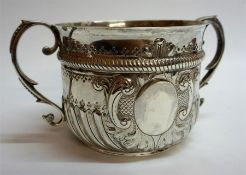 A Victorian Silver Loving Cup, Hallmarks for Thomas Bradbury & Sons, London 1888, with twin handles,