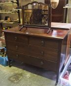 A Mahogany Bedroom Chest Of Drawers, 79cm high, 109cm wide, 46cm deep, also with a dressing
