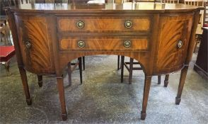 A Reproduction Mahogany Sideboard By G.T. Rackstraw Ltd, in the Regency style, with two drawers