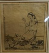 """Robert Sargent Austin (1895-1973) """"A Roman Madonna"""" Etching, signed and dated 1922 in pencil, 17 x"""