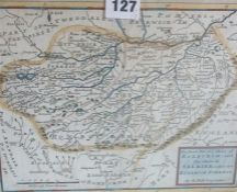 """Herman Moll (Geographer) """"Selkirk"""" 19th Century Map Engraving, 19.5 x 26cm, framed, also with a"""