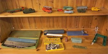 A Mixed Lot Of Dinky By Meccano Model Vehicles & Hornby By Meccano Train Accesories, to include