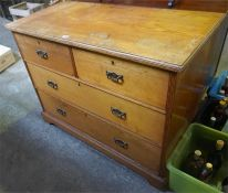 An Oak Chest Of Drawers, circa early 20th century, with two short drawers above two long drawers,