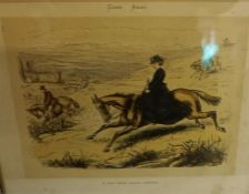 Six Assorted Sporting Prints, various sizes, most examples having titles, framed, (6)
