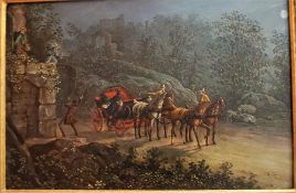 """Attributed To Charles B Newhouse (1805-1877) """"The Elopement"""" Oil On Board, circa 1860, 23 x 36cm, in"""
