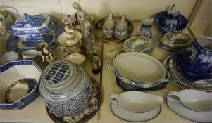 A Large Quantity Of Ceramics, Crystal & Linen, to include a Lladro figure, boxed picture plates,