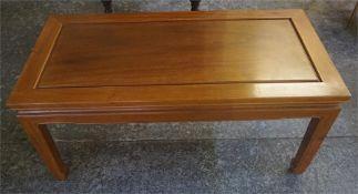 A Modern Chinese Hardwood Coffee Table, 41cm high, 92cm wide, 46cm deep