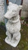 A Pair Of Large Composition Dog Figures, 75cm high, (2)